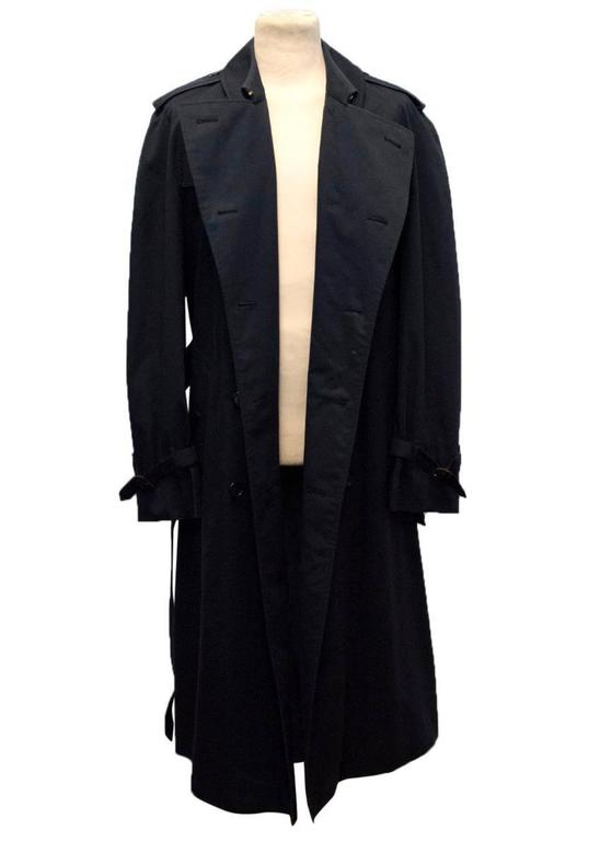 burberry s navy trench coat for sale at 1stdibs