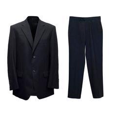 Balmain Black Pinstripe Suit