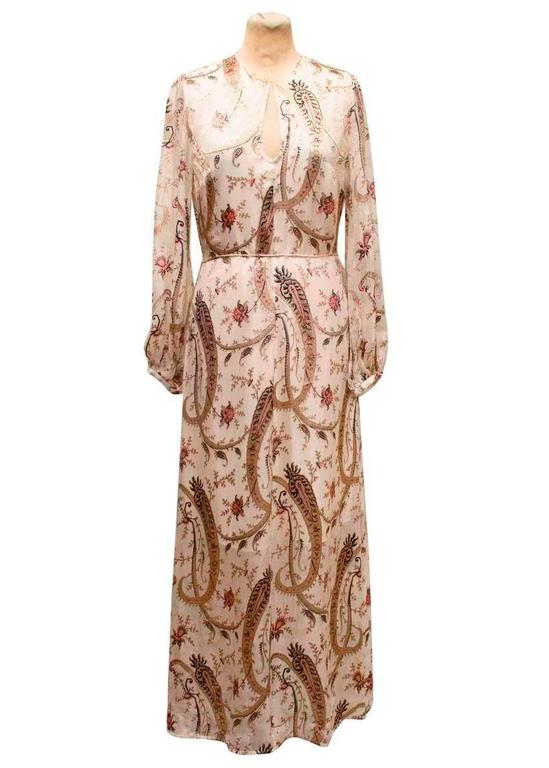 Zimmerman Patterned Silk Dress For Sale At 1stdibs