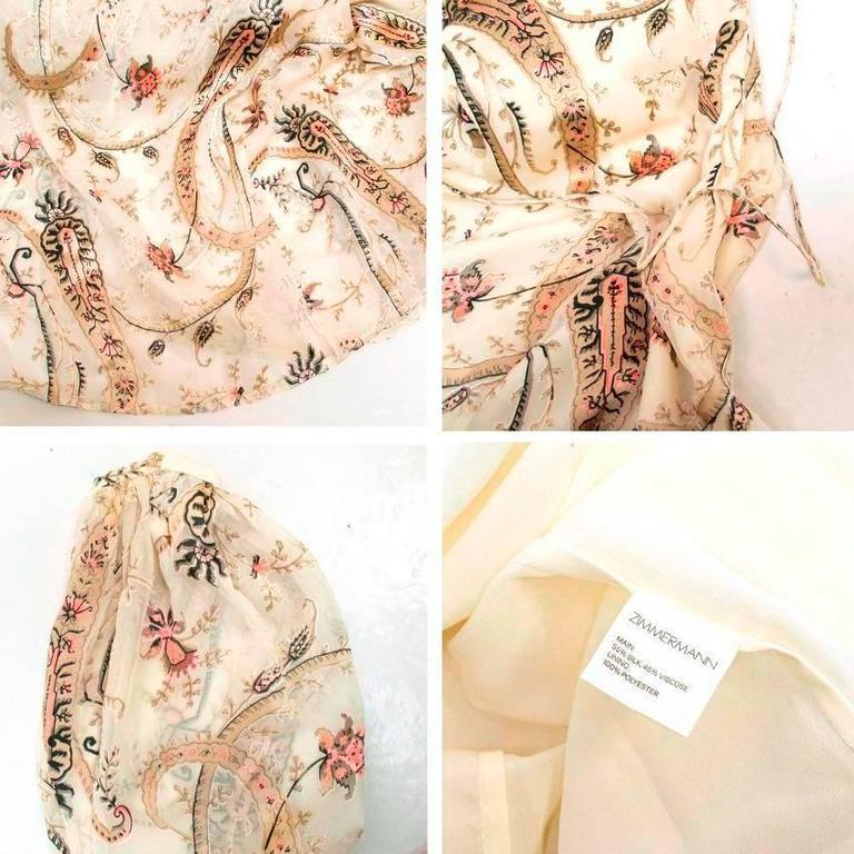 Zimmerman Patterned Silk Dress For Sale At 1stdibs