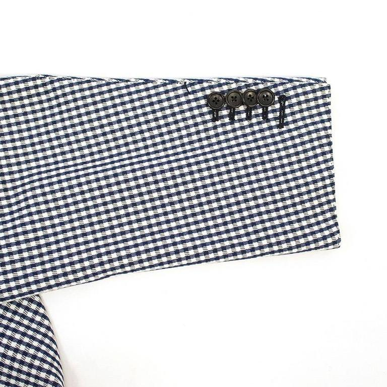 Tom Ford Blue and White Checkered Blazer 4