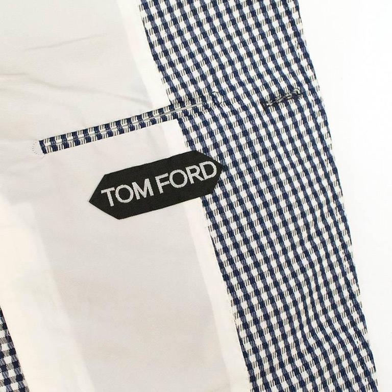 Tom Ford Blue and White Checkered Blazer 5