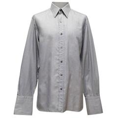Tom Ford Grey Textured Dress Shirt