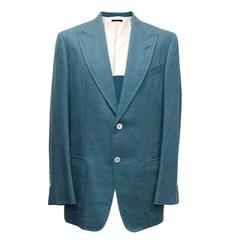 Tom Ford Blue Silk/Linen Blend Blazer