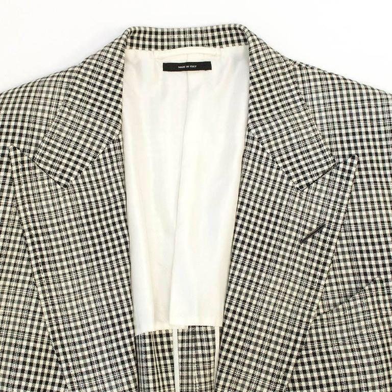 Tom Ford Black and White Checkered Blazer 3