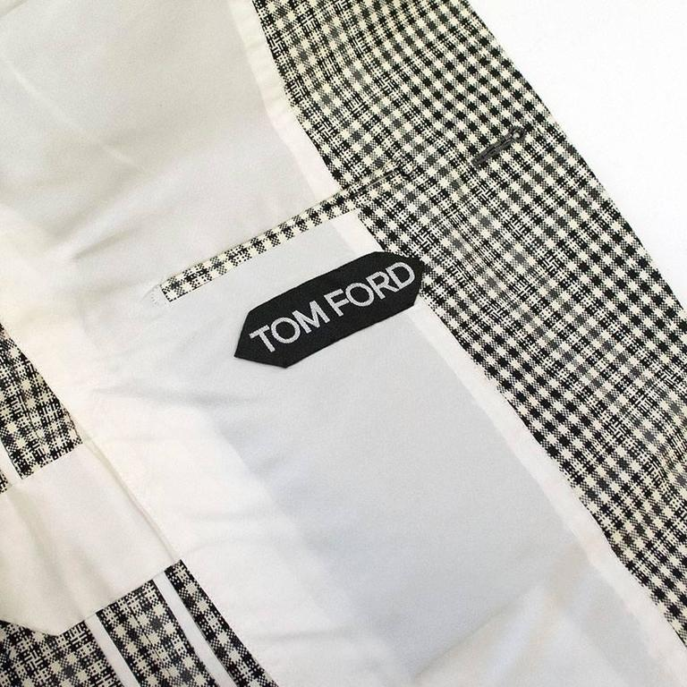 Tom Ford Black and White Checkered Blazer 5