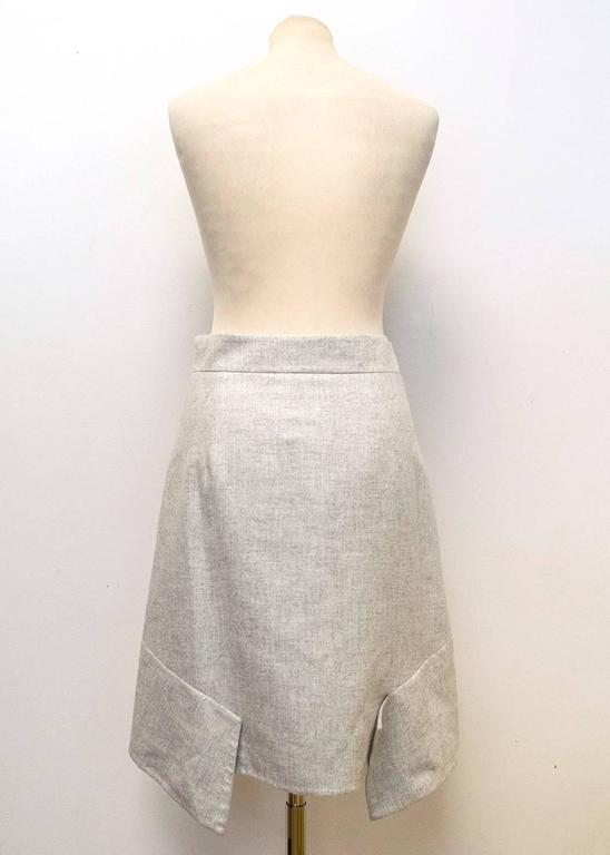 Akris Grey Cashmere Double-Face Skirt 4