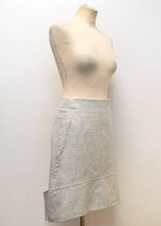 Akris Grey Cashmere Double-Face Skirt 3