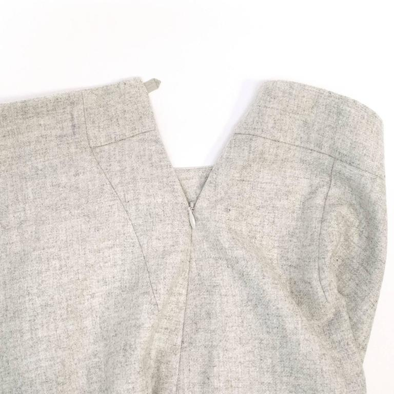 Akris Grey Cashmere Double-Face Skirt 7
