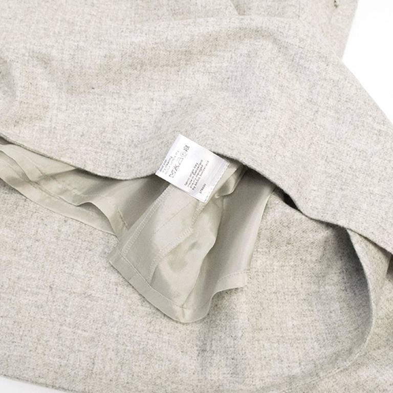 Akris Grey Cashmere Double-Face Skirt 9