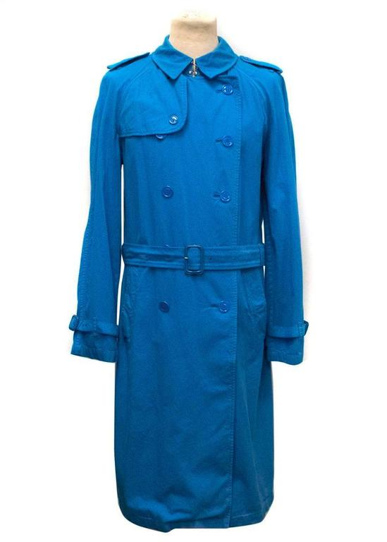Burberry Men's Blue Trench Coat 2