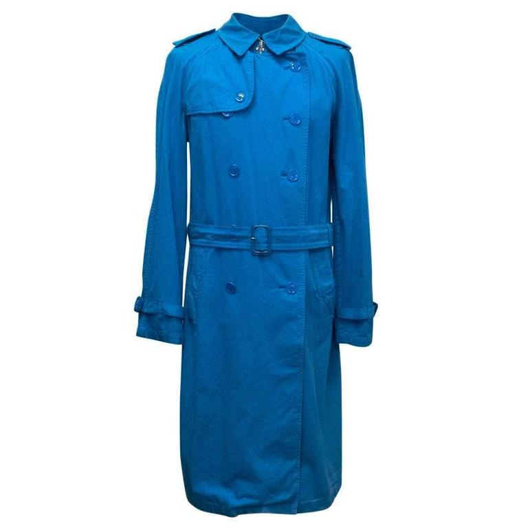 Burberry Men's Blue Trench Coat 1