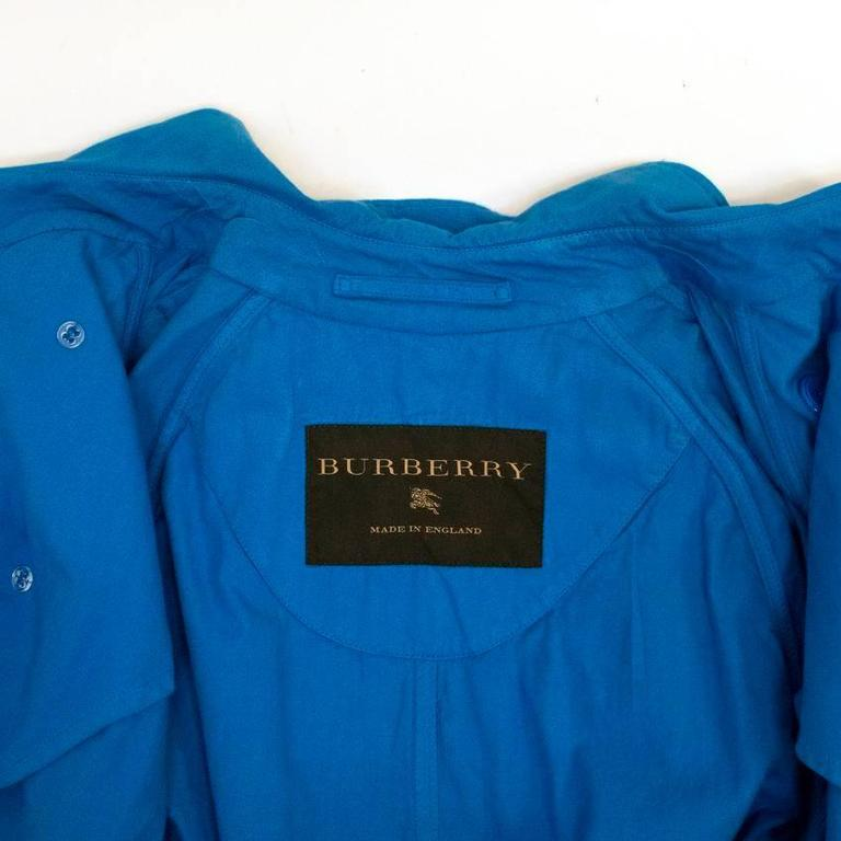 Burberry Men's Blue Trench Coat 6