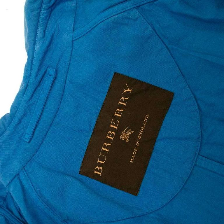 Burberry Men's Blue Trench Coat 7