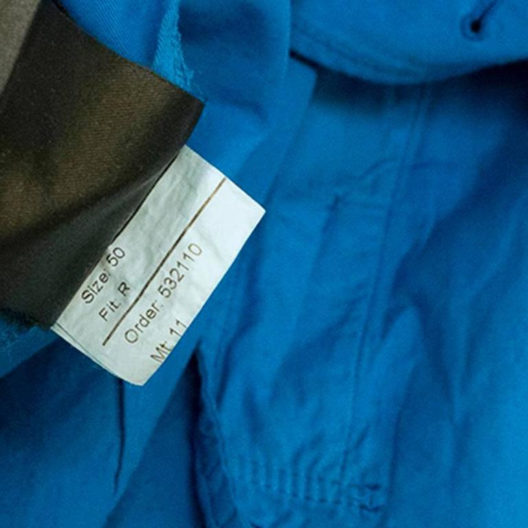 Burberry Men's Blue Trench Coat 9