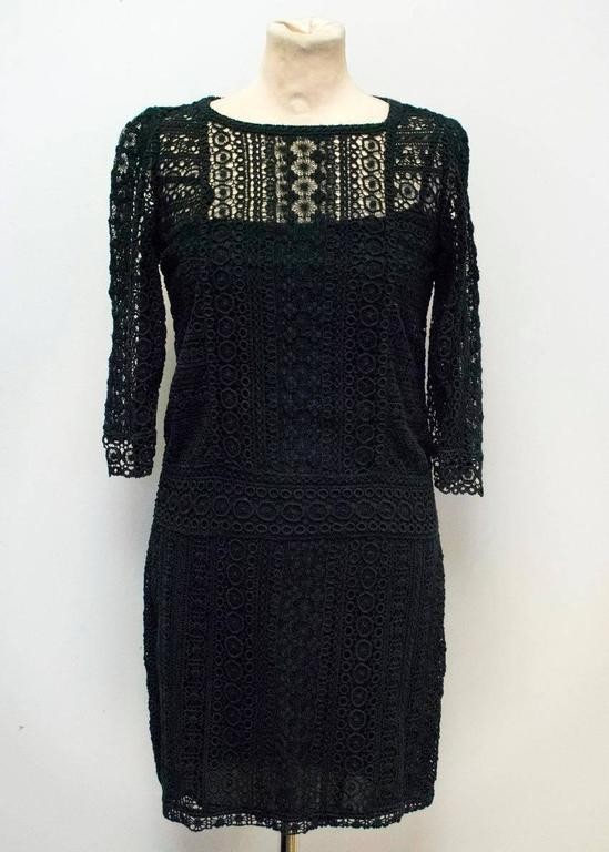 Maje Black Crochet Dress For Sale At 1stdibs