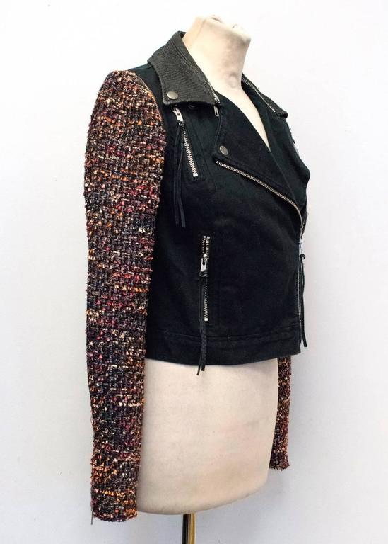 Elizabeth and James Current Season 'Rory' Boucle/ Denim Biker Jacket 2