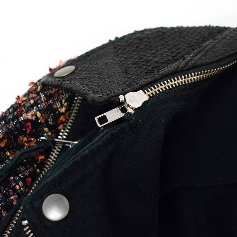 Elizabeth and James Current Season 'Rory' Boucle/ Denim Biker Jacket 6