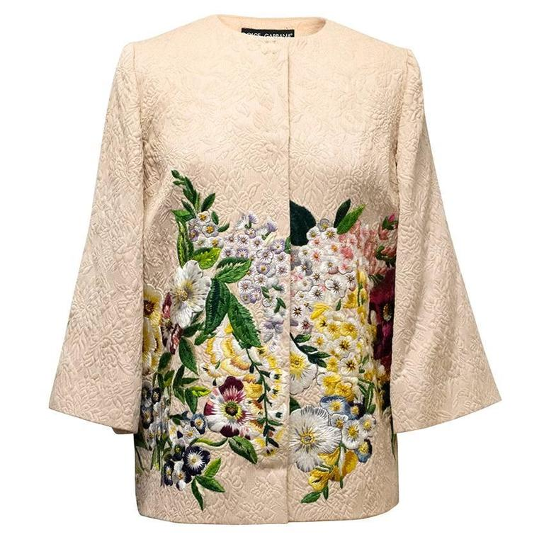 Discount Order Clearance Professional Dolce & Gabbana floral embroidered jacket K0OcOf0az