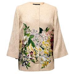 Dolce & Gabbana Pale Pink Floral Embroidered Jacket
