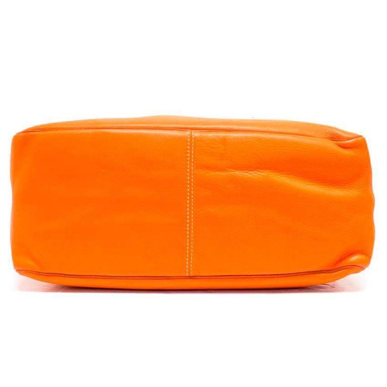 Celine Orange Leather Boogie Bag 2