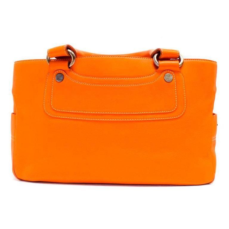 Celine Orange Leather Boogie Bag 3