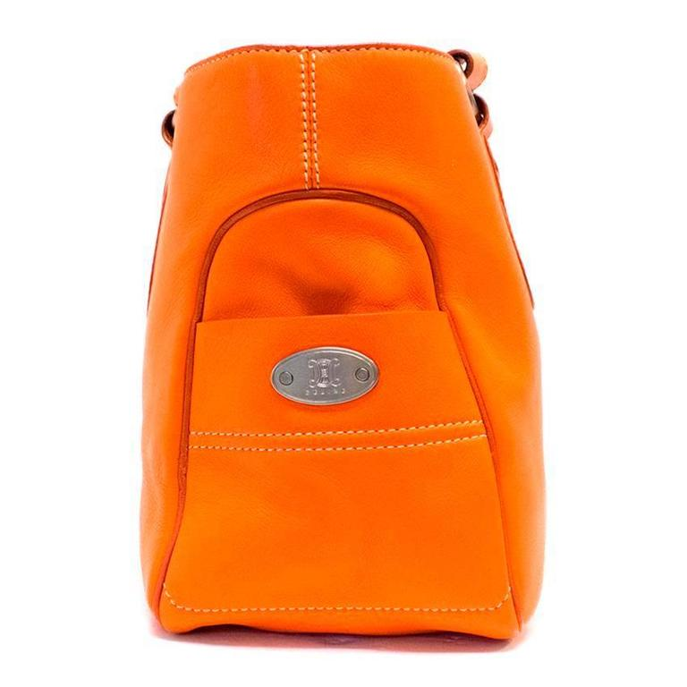 Celine Orange Leather Boogie Bag 4