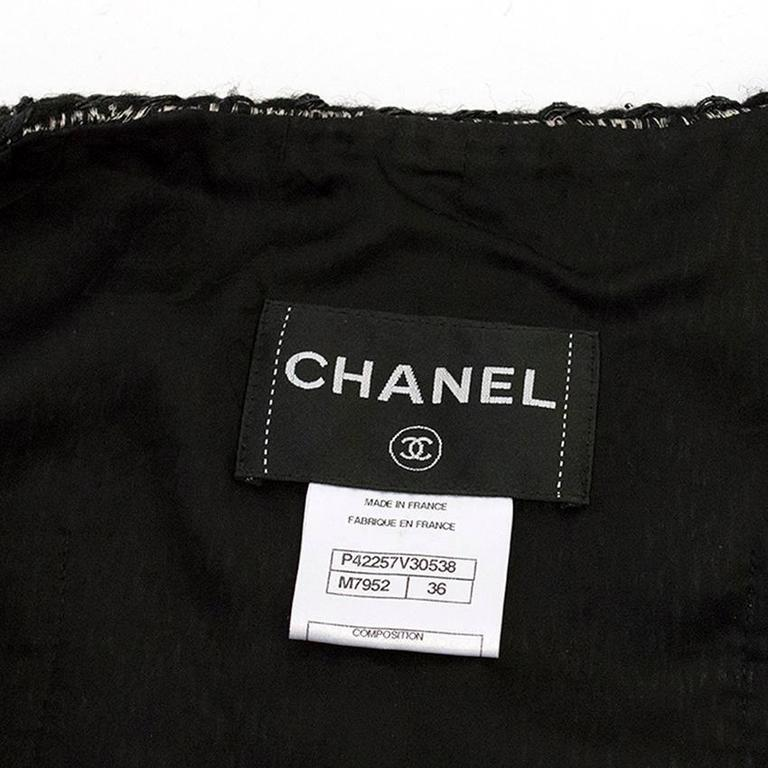 Chanel Black and White Tweed Jacket 2
