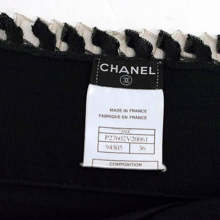 Chanel Black Ribbed Strappy Dress For Sale 4