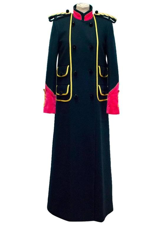 Luella Limited Edition Navy Military Coat For Sale at 1stdibs