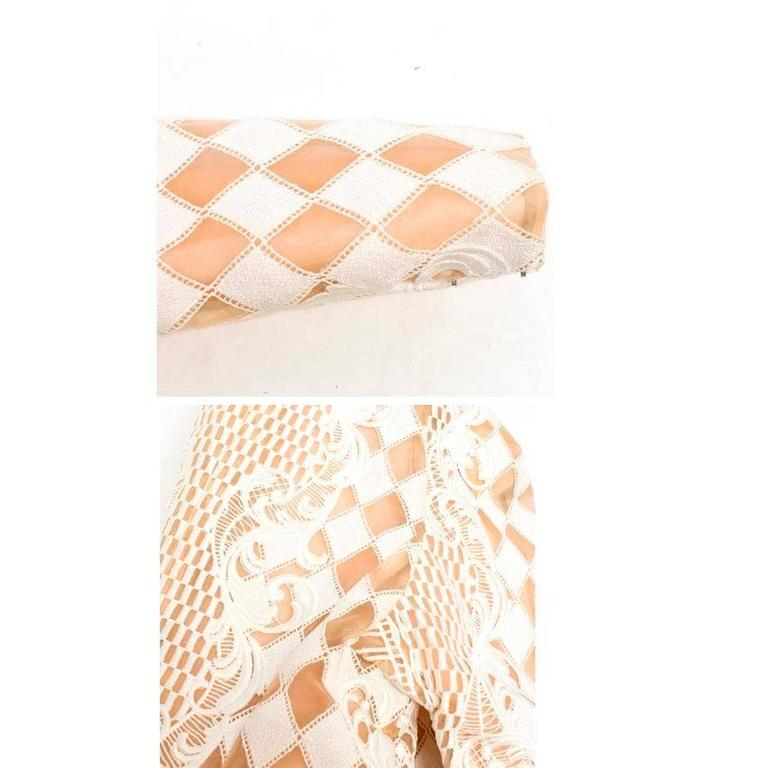 Balmain Nude and White Embroidered Jacket 5