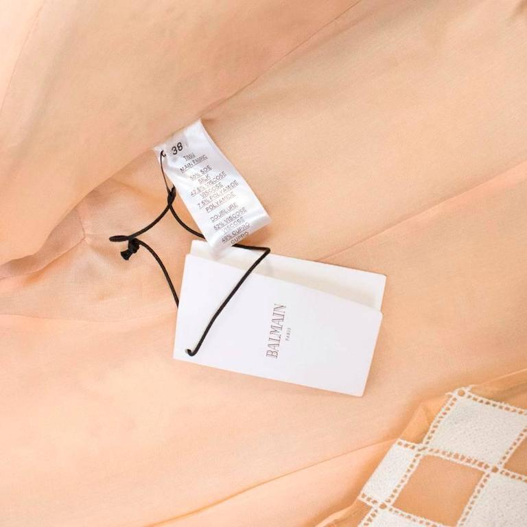 Balmain Nude and White Embroidered Jacket 4