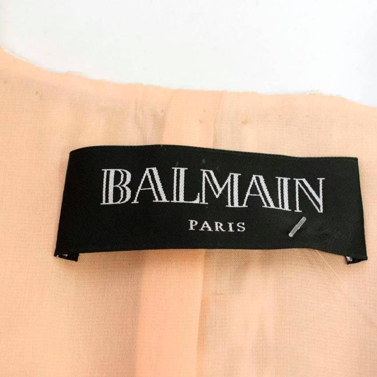 Balmain Nude and White Embroidered Jacket 9