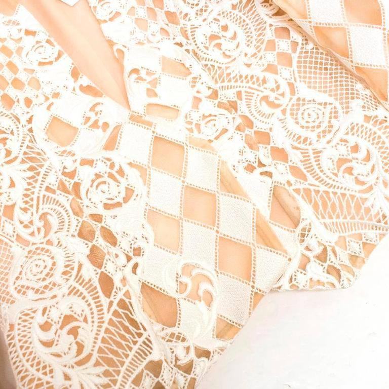 Balmain Nude and White Embroidered Jacket 7