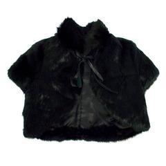 Richmond Denim Black Rabbit Fur Stole