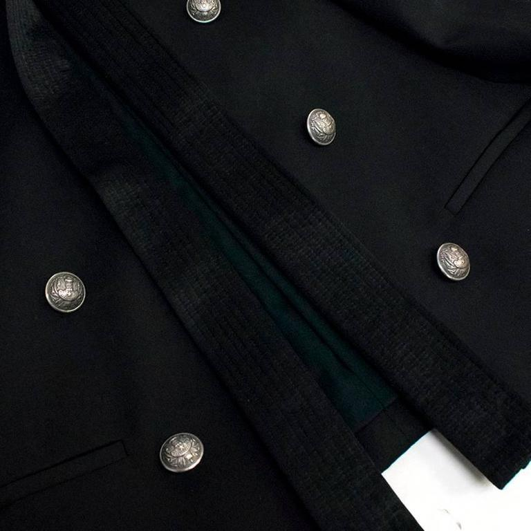Balmain Black Military Style Jacket For Sale 4