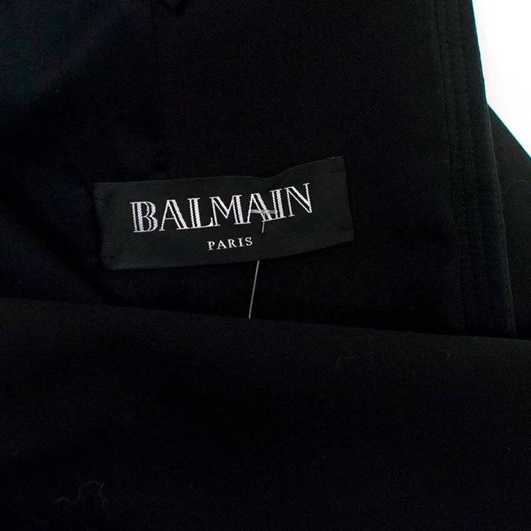 Balmain Black Military Style Jacket For Sale 6