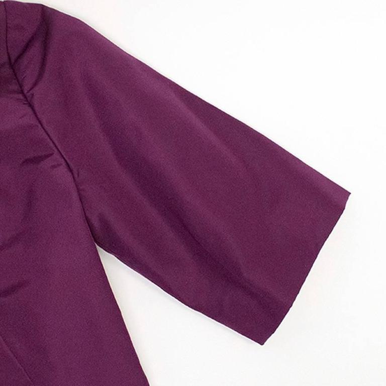 Oscar de la Renta Purple Dress with Embroidered Hem  5