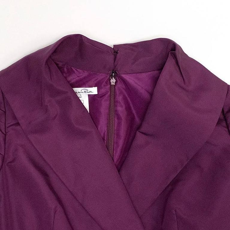Oscar de la Renta Purple Dress with Embroidered Hem  8