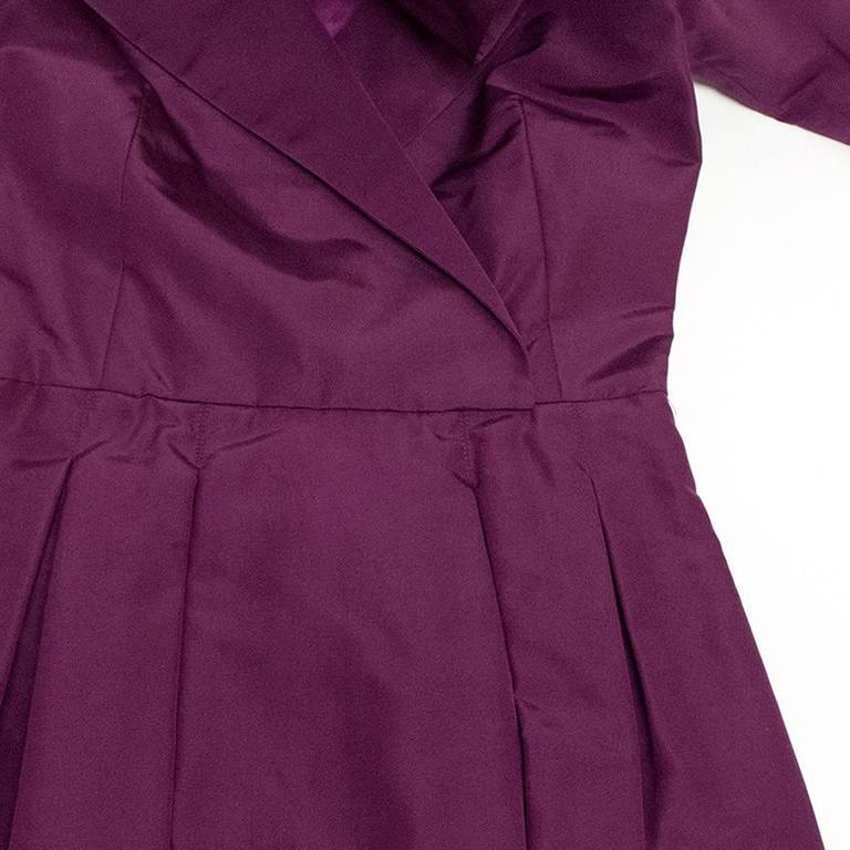 Oscar de la Renta Purple Dress with Embroidered Hem  6