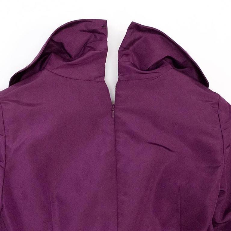 Oscar de la Renta Purple Dress with Embroidered Hem  7
