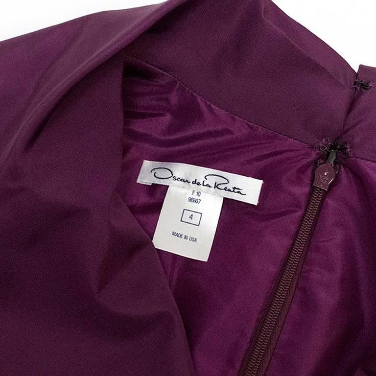 Oscar de la Renta Purple Dress with Embroidered Hem  9