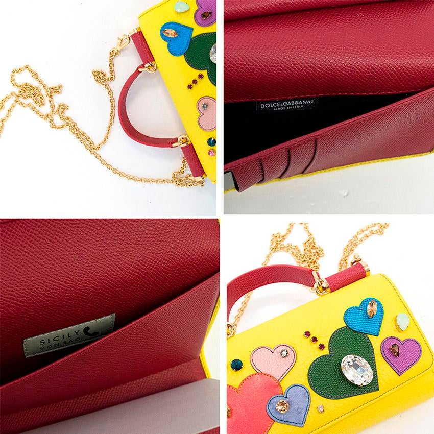 d2fdffa12c Dolce and Gabbana Yellow St. Valentine Mini Von Wallet Bag For Sale at  1stdibs