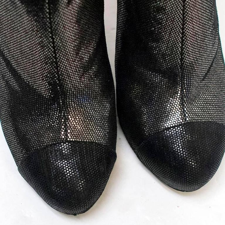 Chanel Metallic Ankle Boots 3