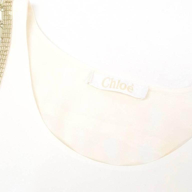 Women's Chloe White Beaded Arrow Top For Sale