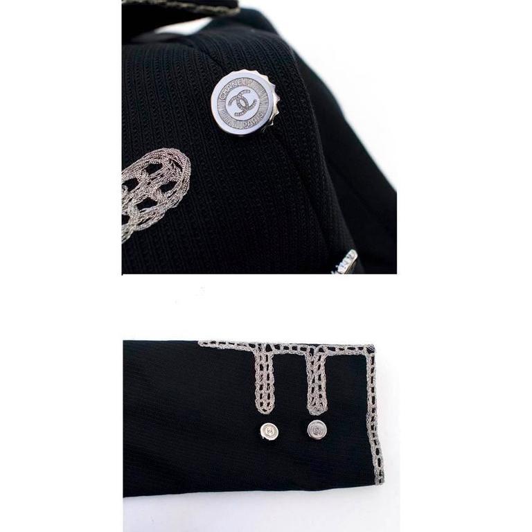 Chanel Black Military Blazer 5