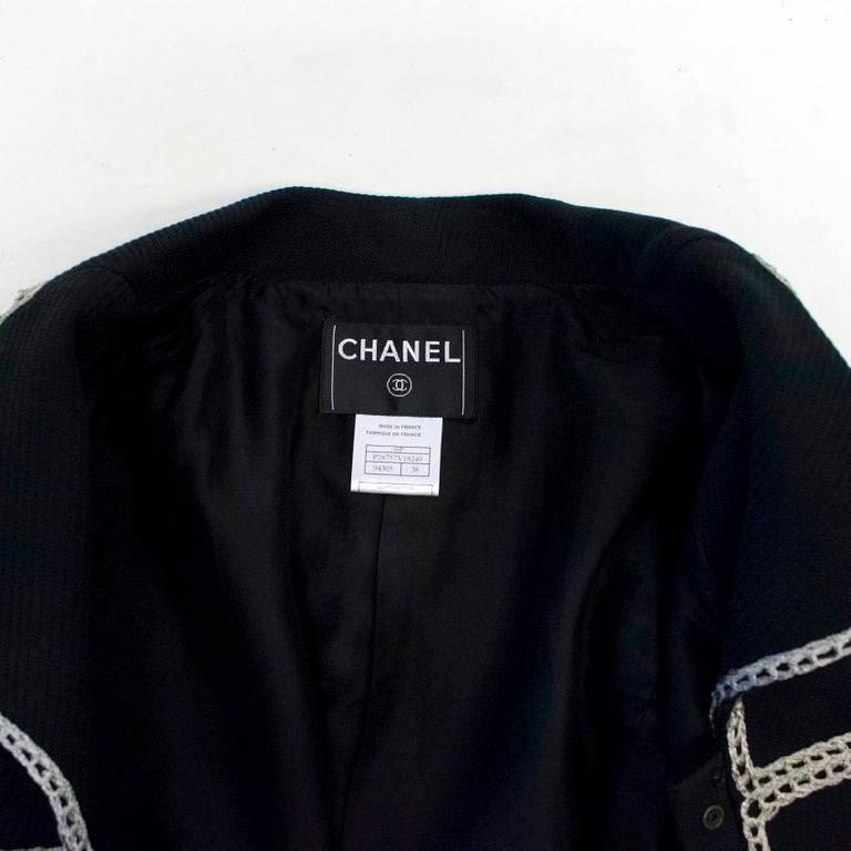 Chanel Black Military Blazer 8