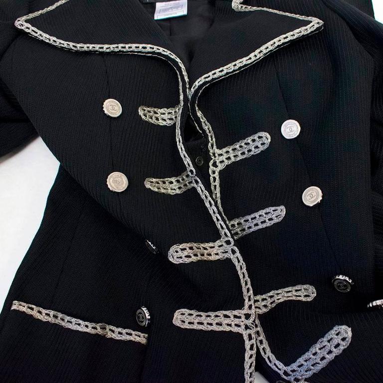 Chanel Black Military Blazer 9