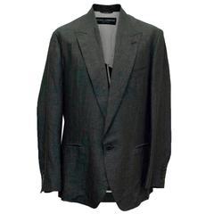 Dolce & Gabbana Grey Linen Jacket