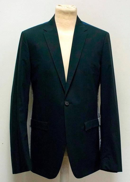 Jil Sander Navy, Blue, and Grey Color Block Two Piece Suit ...